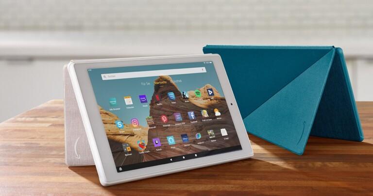 Eine Fire-HD-Tablet eignet sich auch für Videotelefonie mit Alexa. (Foto: Amazon)
