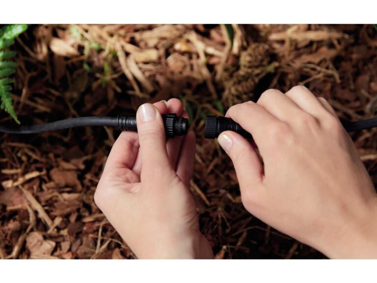 Solche Niedervolt-Kabel bieten bereits optimalen Schutz vor Wasser und Schmutz. (Foto: Signify)