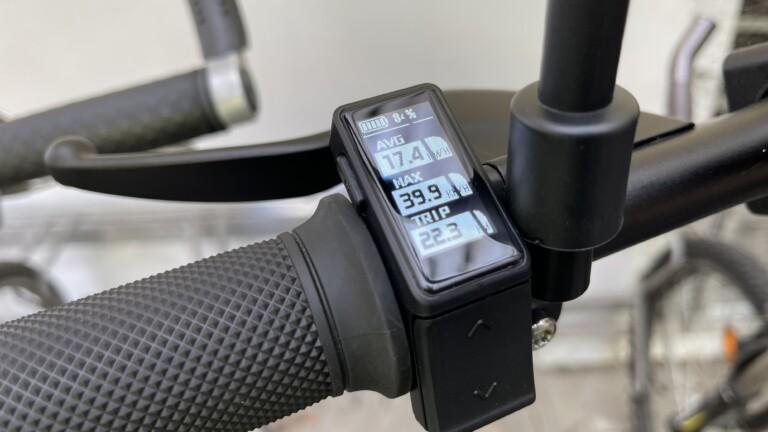 Display des Vässla Bike: Klein, übersichtlich, leicht zu bedienen.