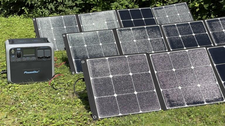 Solarkraftwerk mit der AC200P und drei Solarladegeräten