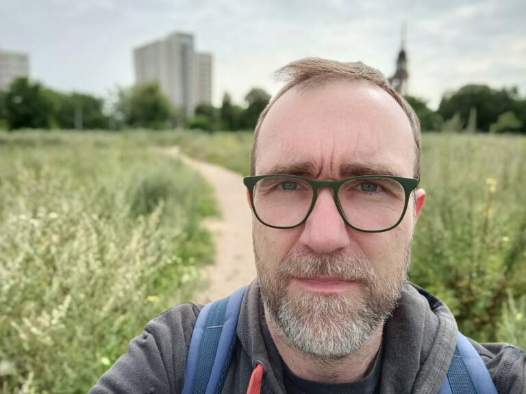 Selfie draußen. (Foto: Sven Wernicke)