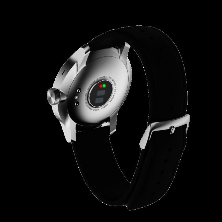 Meist befinden sich die Sensoren auf der Unterseite einer Smartwatch. (Foto: Withings)