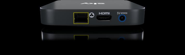 Anschlüsse der Sky-Q-IPTV-Box