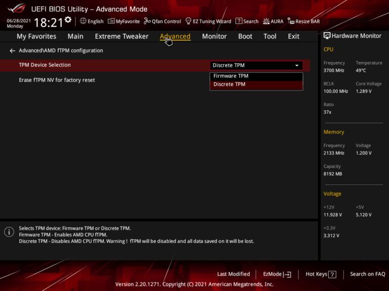Bei Mainboards mit AMD-Chip sind die Einstellungen im Bios etwas anders. (Foto: Asus)