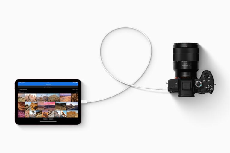 USB-C soll schnellere und vielseitigere Datenübertragung auf das iPad ermöglichen.