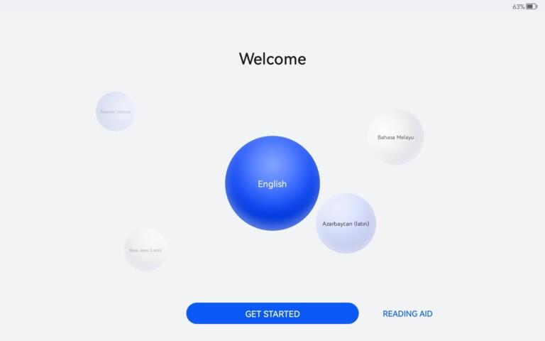 So begrüßt euch der Einrichtungsassistent von Harmony OS beim ersten Einschalten.