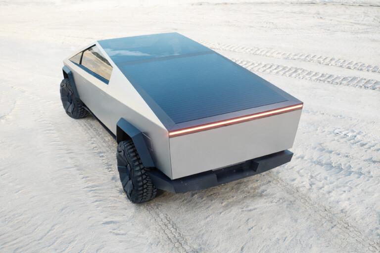Tesla Cybertruck mit Solardach in Mitten einer Wüstenlandschaft: Ist das die Zukunft, die wir verdienen? Bild: Tesla