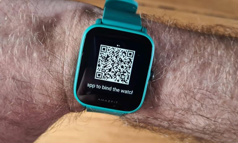 Beim ersten Einschalten erwartet euch ein QR-Code. Den müsst ihr in der App nur einscannen, schon geht's los. (Foto: Sven Wernicke)