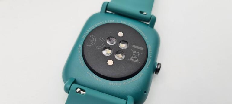 Die Sensoren auf der Rückseite der Smartwatch. (Foto: Sven Wernicke)
