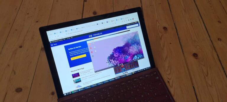 Die DeX-Oberfläche läuft in einem separaten Fenster oder als Vollbild auf dem Rechner. (Foto: Sven Wernicke)