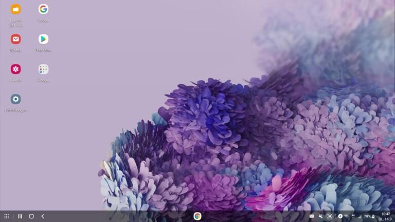Erinnert etwas an Windows und Linux, ist aber DeX. (Screenshot)
