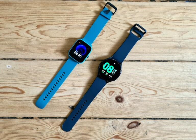 Links die 60-Euro-Smartwatch, rechts der 300 Euro teure Konkurrent. (Foto: Sven Wernicke)