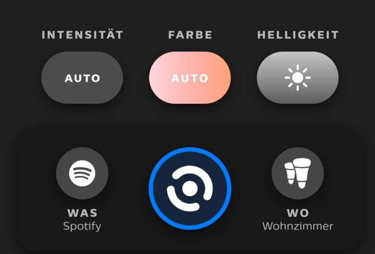 Rechts unten lässt sich der Entertainment-Bereich ändern. (Screenshot)