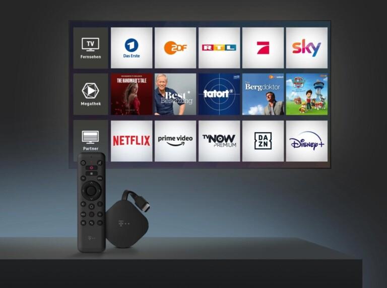 Alle hier vorgestellten Streamingplayer unter 50 Euro haben sämtliche Streaming-Dienste im Angebot. (Foto: Telekom)
