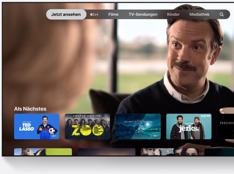tvOS vom Apple TV 4K ist an und für sich übersichtlich, wirkt aber im Vergleich zu anderen Oberflächen etwas angestaubt. (Foto: Apple)